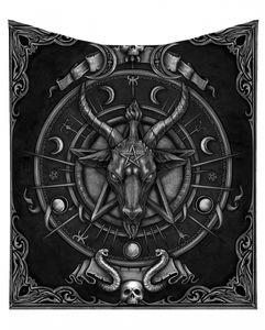 Baphomet Tagesdecke mit Ziegenkopf Motiv