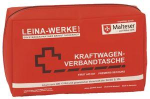 LEINA KFZ Verbandtasche Compact Inhalt DIN 13164 rot 100 % Nylon