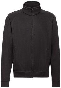 Fruit of the Loom Classic Sweat Jacket, Farbe:schwarz, Größe:XL