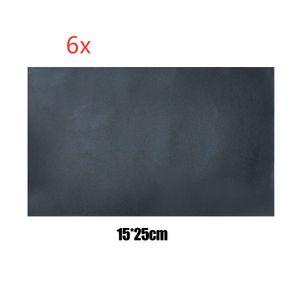 6X Selbstklebend Patch 15x25cm Lederreparatur Kunstleder Flicken schwarz