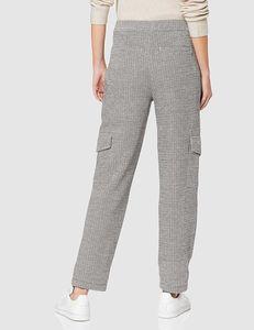 OPUS Milda SP Schlupf-Hose gemütliche Damen Business-Hose in Zigarettenform Grau, Größe:36