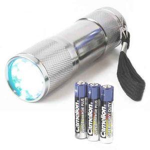 Extrem Helle Marken Taschenlampe Mit 9 Power Leds | Extreme Helligkeit von über 12.000mcd | Lebensdauer über 100.000 Std. | inkl. Batterien von CAMELION