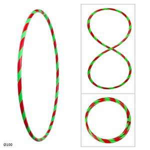Bunter Hula Hoop Reifen, faltbar, Ø100cm Rot-Grün