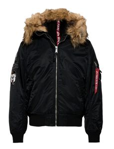 Alpha Industries Herren Bomberjacke MA-1 Hooded Arctic black XL