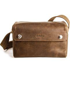 HAROLD´s Tank Kameratasche klein Tasche mit Klappverschluss mit Magneten und Schultergurt Rindsleder natur