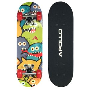 "Apollo Kinderskateboard ""Monsterskate"" 51cm Kinderboard Skateboard mit 9 Lagen Holzdeck"