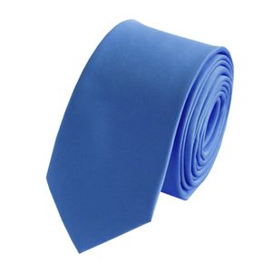 Schlips Krawatte Krawatten Binder 6cm blau eisblau hellblau uni Fabio Farini