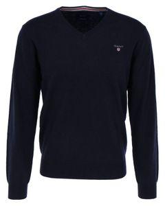GANT Herren V-Neck Sweater, Farbe:blau, Größe:L