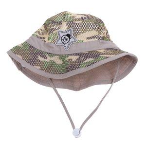 Buschhüte mit Kinnband - ideal als Sonnenhut, Safarihut, Outdoor Hut, Fischerhut, Anglerhut, Gartenhut, Campinghut für Kinder Farbe Khaki