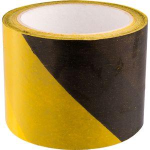 Absperrband 100m gelb-schwarz Absperrfolie Flatterband Trassenband Warnband