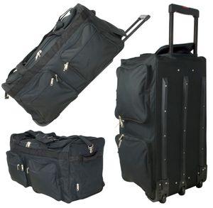 XL - Trolley-Reisetasche 80 cm, 3 Rollen, 128 Liter, Rollenreisetasche, Sporttasche, Freizeittasche