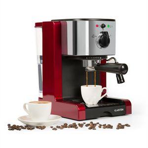 Klarstein Passionata Rossa 15 Espressomaschine  , Cappuccino  , Milchschaum  , Siebträger  , bis zu 1.470 Watt Leistung  , 15 Bar Pumpendruck  , 1,25 Liter Wassertank für 6 Tassen  , auch für Espresso-Pads  , abnehmbarer Wassertank  , Edelstahl  , Rot