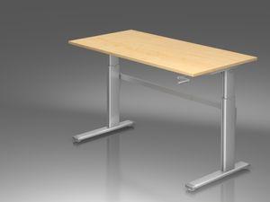 Xanten Three Schreibtisch, elektrische Höhenverstellung, Ahorn, Größe Tischplatte:160 x 80 cm