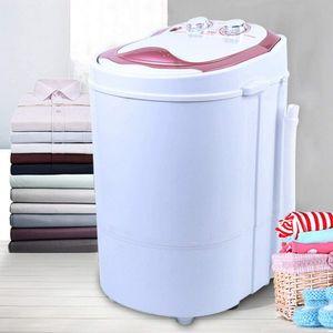 3 KG Mini Waschmaschine Waschautomat Rosa Wäsche Schleuder Miniwaschmaschine und Schleuder 54x35x34cm Wäscheschleuder Camping Waschmaschine