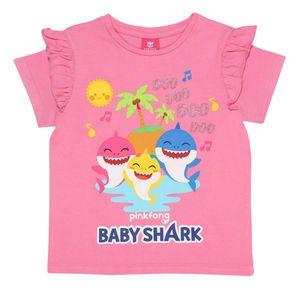 Baby Shark - T-Shirt für Mädchen PG524 (104) (Pink meliert)