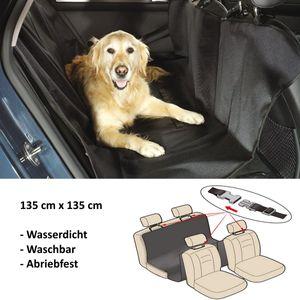 Autoschondecke, Auto Hundedecke, Schutzdecke Hund, KFZ Rückbank / Kofferraum wasserdicht schwarz