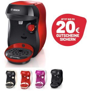 Bosch TASSIMO Happy + 20 EUR Gutscheine* Heißgetränkemaschine Kapsel Maschine, Farbe:Lila