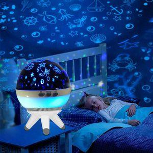 LED Nachtlicht Einschlafhilfe Mit Projektor Sternenhimmel Einhorn USB Nachtlampe Kinder