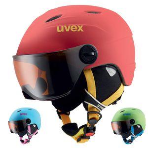 Uvex Junior Visor Pro - Junior Skihelm mit Visier, Größe:54-56 cm, Farbe:pink/rosa