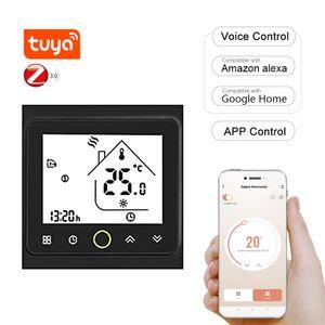 Tuya ZigBee3.0 Smart Thermostat 16A Woechentlich programmierbarer Temperaturregler APP-Steuerung Sprachsteuerung Kompatibel mit Alexa / Google Home fuer elektrische Fussbodenheizung fuer Villen in Heimbueros