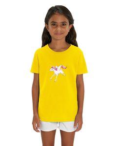 T-Shirt mit Einhorn Motiv, Size:122/128, Color:Yellow