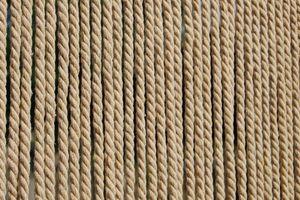 CASA Türvorhang Seil TOULON 1 Fliegenvorhang Insektenvorhang Balkonvorhang Seilvorhang natur beige, Maße:90 x 210 cm