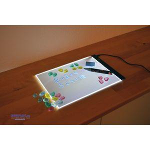 EDUPLAY 120613 LED Leuchtplatte A4 mit Mikro-USB Anschluss (1 Stück)