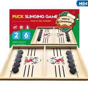 Lernspielzeuge,Tischspielzeug, Weihnachtsgeschenke für KinderEltern-Kind-Interaktion, Schachspringen, Sling Foosball Schnelles Sling Puck Spiel