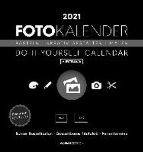 Foto-Bastelkalender 2021 datiert, schwarz