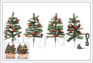 Lichter-Weihnachtsbäumchen Art. 1425 + 24er Kugeln rot 3cm  ## Set ###