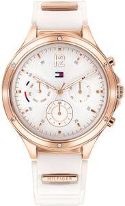 Tommy Hilfiger Damen Multi Zifferblatt Silber/Weiß Silikon Armbanduhr | 1782280