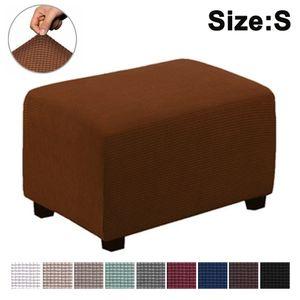 Quadratisch Stretch Hockerbezug Stuhlbezug Stuhlhusse Bezug Husse für Stuhl Hocker -helle Kaffeefarbe