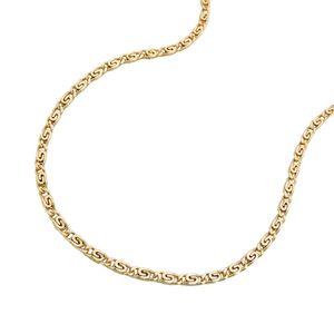 1,2mm S-Panzer Kette Halskette Collier aus 585 Gold Gelbgold 45cm Goldkette