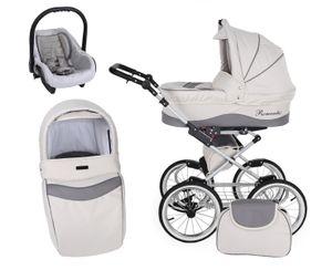 SaintBaby Kinderwagen Retro Classic Kombikinderwagen Buggy Grey Silver 01 2in1 ohne Babyschale