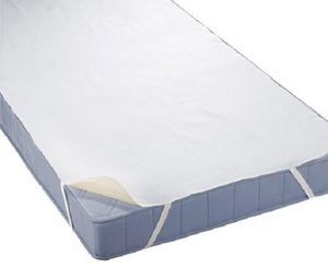 Biberna 809600-001-142 Wasserundurchlässige Molton Matratzenauflage mit SilverCare Weiß 90 x 200 cm