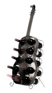 Weinregal Gitarre silber für 10 Weinflaschen 104 cm Flaschenhalter