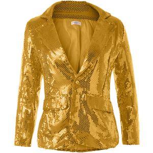 dressforfun Pailletten-Jackett Damen - gold, XL