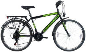 Herrenfahrrad  26 zoll  jungenfahrrad city bike 21 Gang Shimano  Grün NEU -048