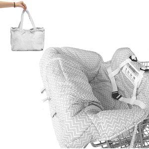 Baby Kinder Kinder Kleinkind Trolley Supermarkt Einkaufswagen Gepolsterter Sitzbezug mit Sicherheitsgurt Anti-Stain Dirty High Chair Shield Pad