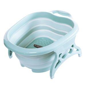 Fußwaschbecken Fußbad Badewanne Füße Sohlenmassage Entspannung Faltbar Farbe Grün