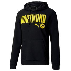 Puma BVB Borussia Dortmund ftblCore Wording Hoodie Herren 20/21, Größe:(3XL) XXXL