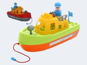 Küstenschutzboot mit Figur 30cm 3-fach