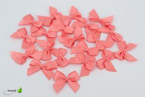 Satinschleifen 25mm, 20 Stück, Farbe:koralle 238
