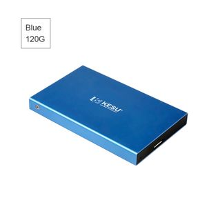 120G Tragbare externe Festplatte USB 3.0-Festplatte Externe HD-Festplatte für PC / Mac, Blau