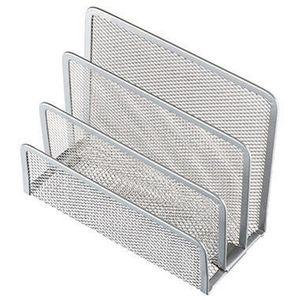 helit Briefständer Mesh H2518300 14x7x9,7cm 3Fächer Metall silber