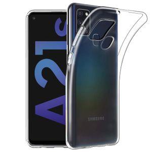 Handy Case Samsung Galaxy A21s Hülle Transparent Schutz Tasche Handyhülle Cover
