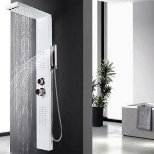 WYCTIN Duschpaneel Regendusche Duscharmatur Badarmatur Dusch winkelrecht BAD Dusche