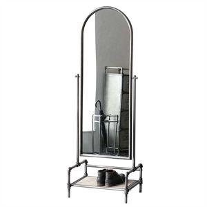 Casablanca Standspiegel Factory Metall/HolzH.166 cm anthrazit/silber,m.Holzbodenplatte (BxHxT) 57 x 166 x 41 cm