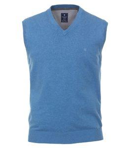 Redmond - Regular Fit - Herren Pullunder mit V-Ausschnitt in verschiedenen Farbvarianten (601), Größe:5XL, Farbe:blau (116)