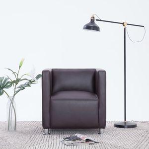 【Neu】Sessel Clubsessel Braun Kunstleder Gesamtgröße:69 x 54 x 71 cm BEST SELLER-Möbel-Stühle-Sessel im Landhaus-Stil